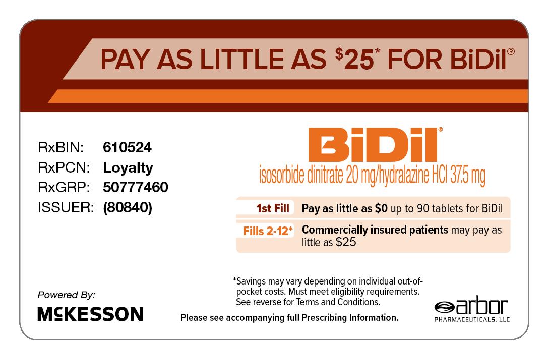 Bidil Patient Savings Support